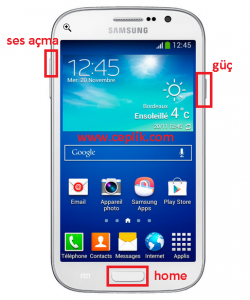samsung galaxy Grand Win format atma i8550