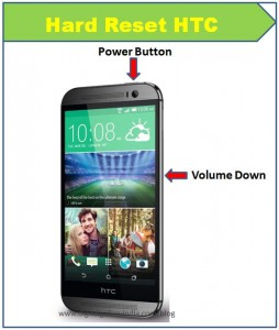 HTC One E8 format atma
